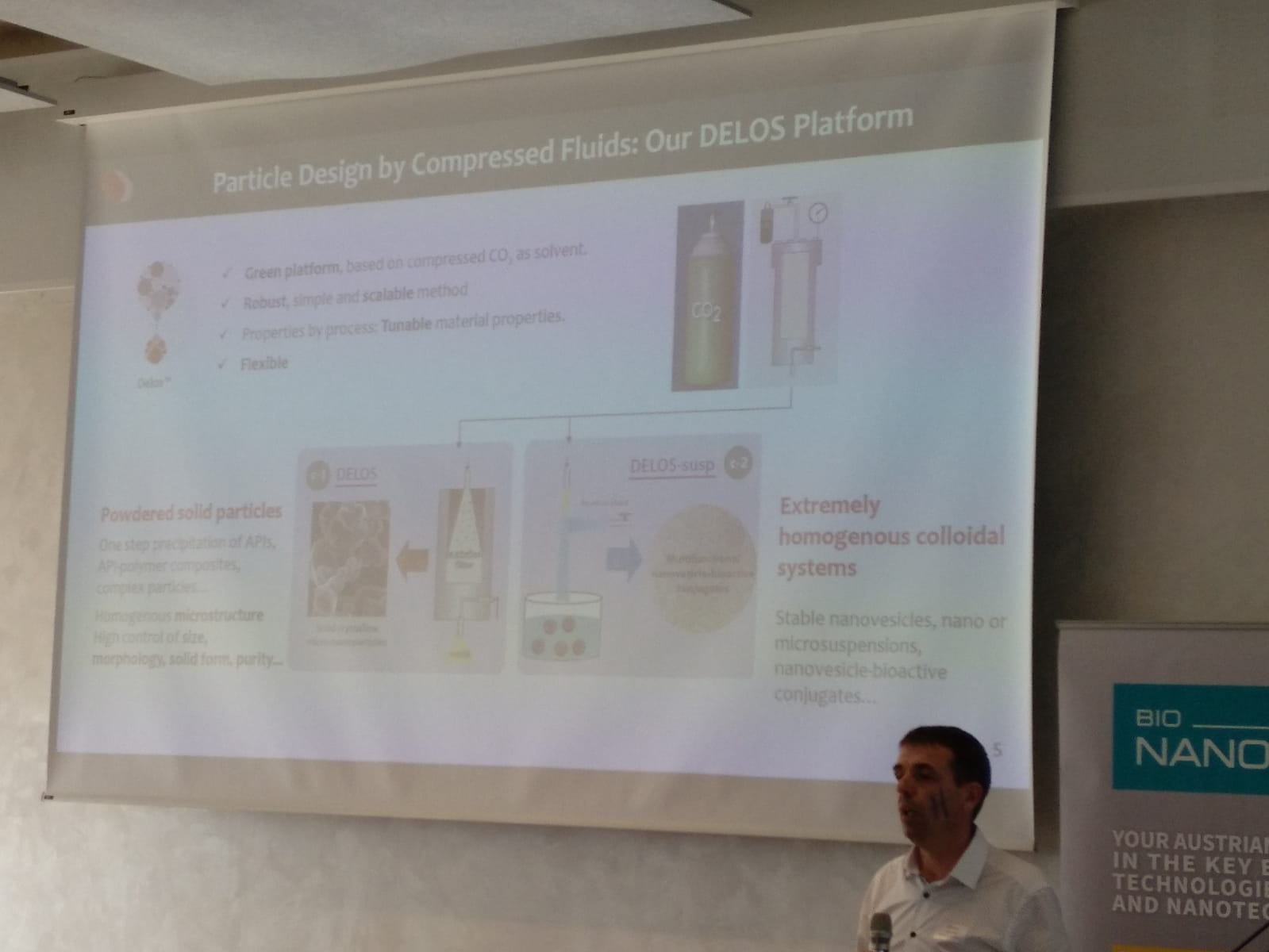 "The project was present in Austria for the Rare Diseases day 2019. The presentation of the Smart4Fabry Project and the technology DELOS-SUSP was presented by Johanna and Santi Sala (respectively) in the frame of the ""First Austrian Microfluidics Initiative Symposium"" hold the 28th February in Viena. In this Symposium organized by TUWien, TUGraz, Univ. Salzburg and BioNanoNet, a specific session with title ""Rare Disease Day 2019"" was scheduled. In this session three presentations were hold: Smart4Fabry project, Nanomol Technologies and its DELOS Susp technology and the H2020-MSCA-RISE-2017 ""CISTEM"" project"
